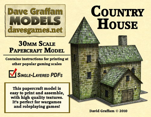 30mm Country House Papercraft Model Now Available