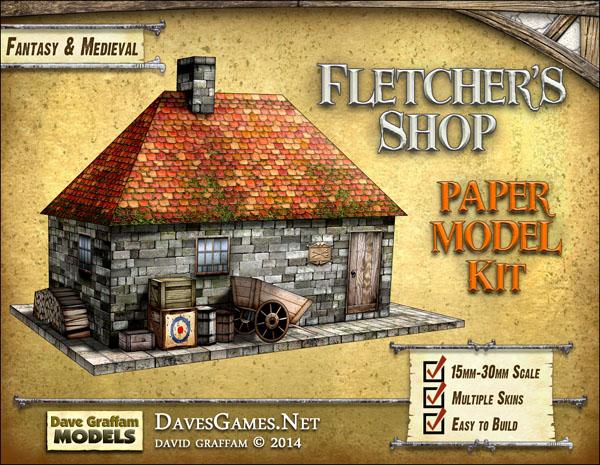 Fletcher S Shop Paper Model Dave S Games