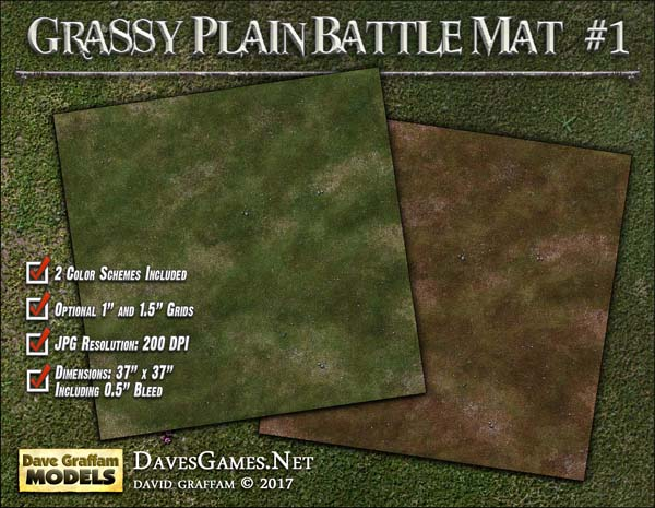Grassy Plain Battle Mat #1