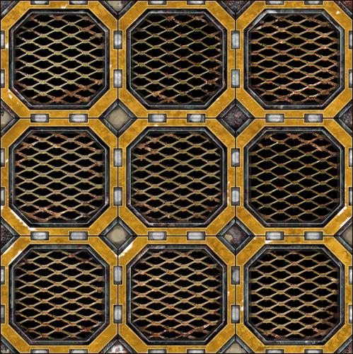 metal tile kit 3   dave graffam models sci fi