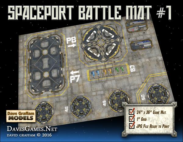 Spaceport Battle Mat #1 - Dave Graffam Models | Sci-Fi | Game Mats |  DriveThruRPG com