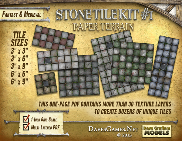 New tile sets by Dave Graffam Models | Cardboard Warriors forum