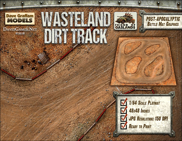 Wasteland Dirt Track Dave Graffam Models Sci Fi Game