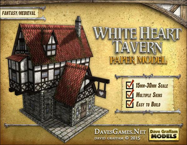 White Heart Tavern Paper Model - Dave Graffam Models | Fantasy & Medieval |  DriveThruRPG com