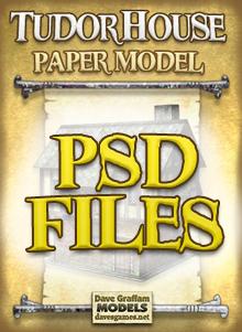 Tudor house paper model
