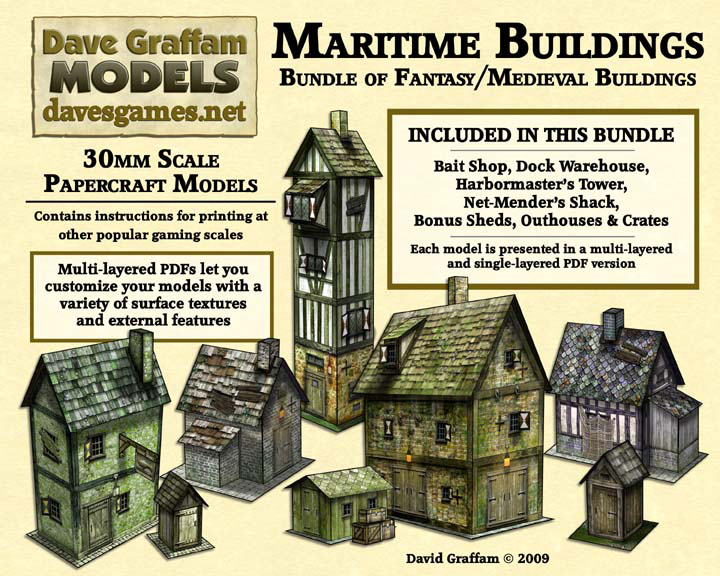 30mm Papercraft Terrain from Dave Graffam Models - Previews of