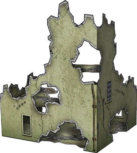 Bombed House Paper Model Dave Graffam Models Ruins