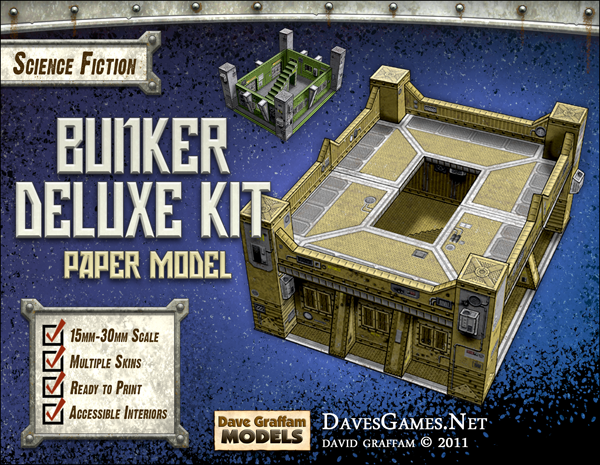 Bunker Deluxe Kit Paper Model | Dave's Games