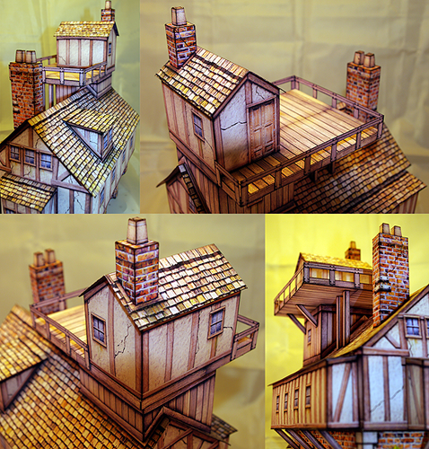 Dave Graffam Models] Inventor's House Paper Model [Archive