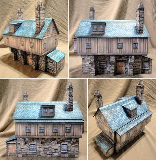 Inventor's House Paper Model - Dave Graffam Models | Fantasy & Medieval |  Wargame Vault