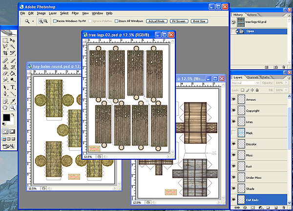 Lumber, Logs & Hay Bales PSD Files - Dave Graffam Models | RPGNow com