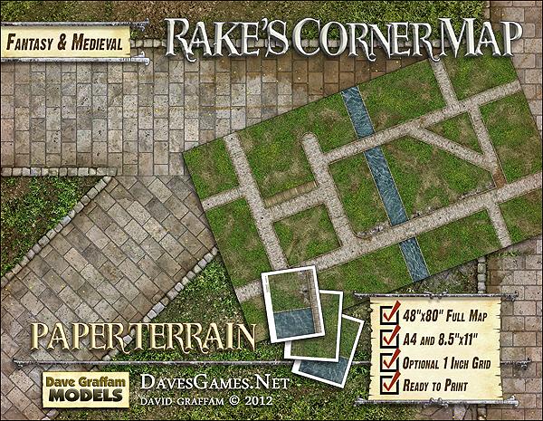 Rake's Corner Map