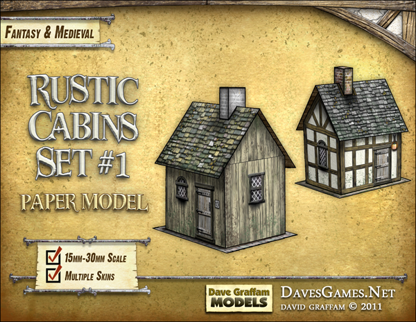 Rustic Cabins Set #1