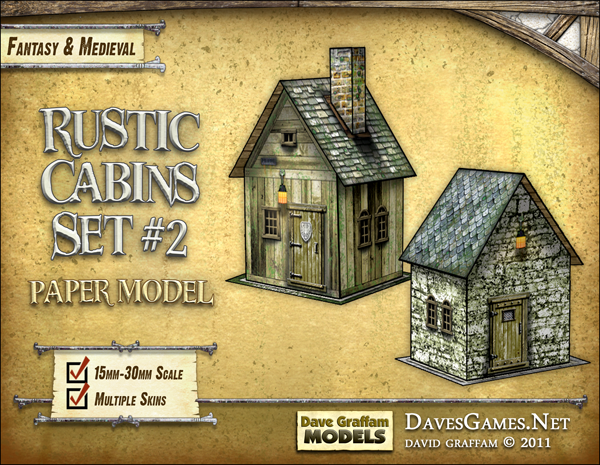 Rustic Cabins Set #2