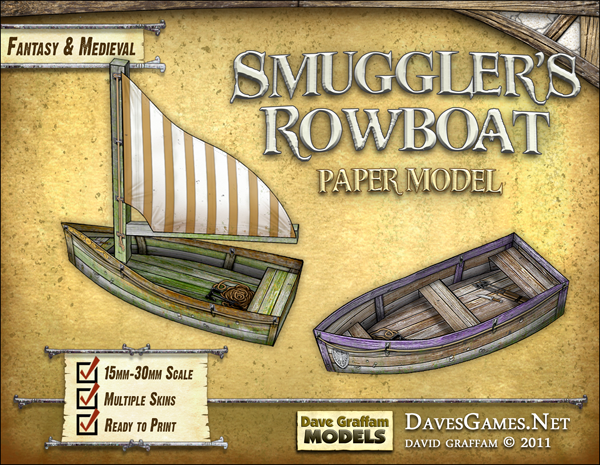 Smuggler's Rowboat - 30mm paper model now available