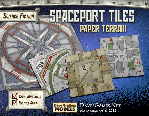 Spaceport Tiles Paper Terrain Dave Graffam Models Sci