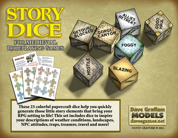 Story Dice Medieval