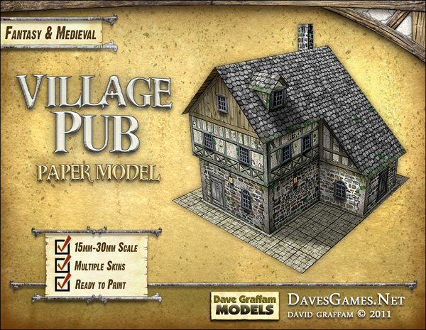 Village Pub Paper Model Dave Graffam Models Fantasy