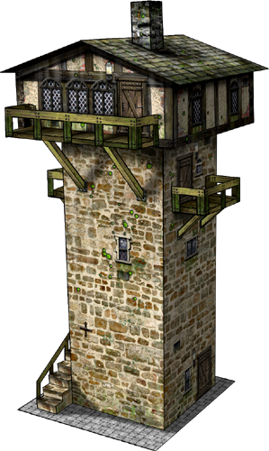 Watch Tower Paper Model Dave S Games